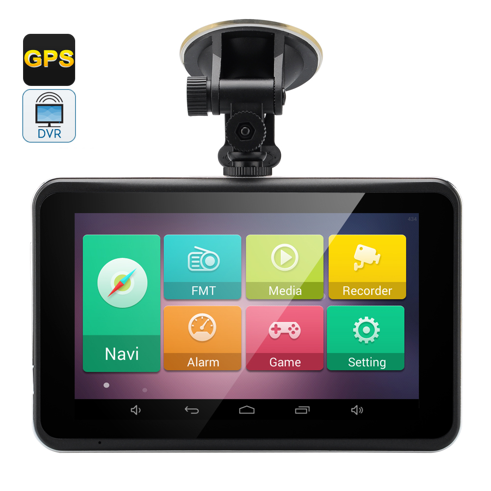 Wholesale 7 Inch Touchscreen Android 4.4 GPS Navigator Tablet with Dash Cam (FM Transmitter, Wi-Fi)