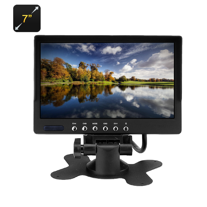 Wholesale 7 Inch Car LCD Monitor with Dual Video AV Input for DVD Player, Sat Nav, Rear Mirror Camera, Dash Cam