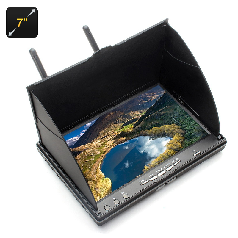 Wholesale 7 Inch FPV Monitor for Aerial Photography (1024x600, 2200mAh Battery, 32 Channels)