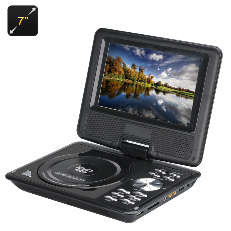 Wholesale 7 Inch Kids Portable DVD Player with Game Controller (Copy Function, TV, Black)