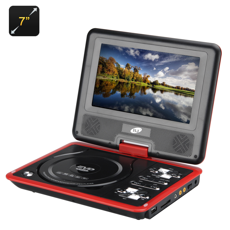 Wholesale 7 Inch Game Portable DVD Player (Rotatable Screen, eBook, Red)