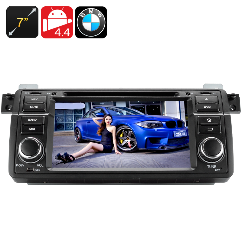 Wholesale 7 Inch Touchscreen 1 DIN Android 4.4 Car DVD Player for BMW M3 + E46 (3G, GPS, Bluetooth, Wi-Fi, Quad Core CPU)