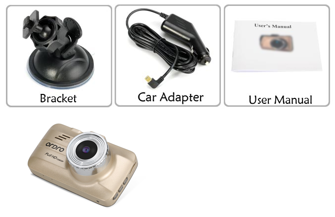 Motion Detection 720P HD Car DVR Camera (120 Degree Wide