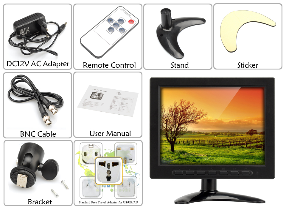 images/wholesale-2016/8-Inch-TFT-LCD-Monitor-VGA-BNC-AV-input-1024x768-Resolution-400-1-Contrast-Remote-Control-Adjustable-Stand-plusbuyer_6.jpg