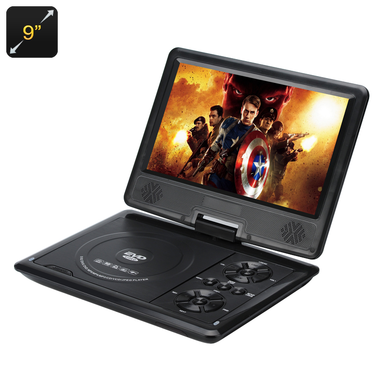 Wholesale Portable DVD Player with 9 Inch 270 Degree Swivel Screen (Region Free, 16:9, 1280x800)