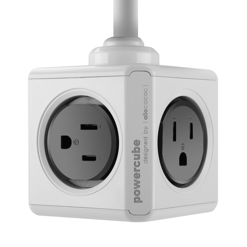 Wholesale Allocacoc US PowerCube Extended USB Plug Socket (1 To 4, 2 USB, 1.5M, 125V, 15A)