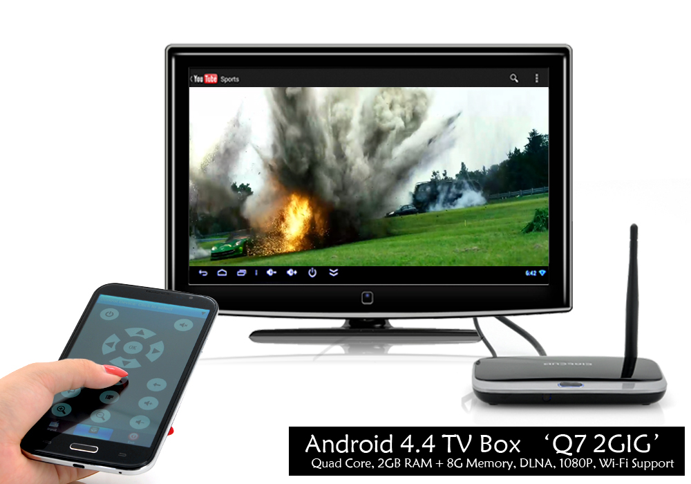 Q7 2GIG - Full HD Home Android 4 4 TV Box (1080P, Wi-Fi