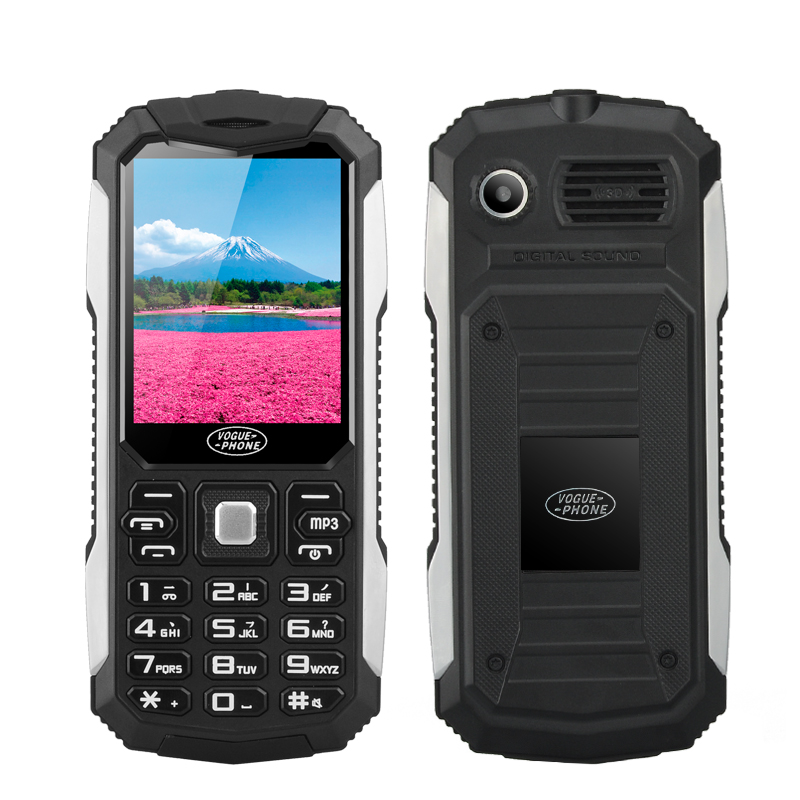 Wholesale Vogue S6 - Rugged Flashlight Phone (Dual SIM, Camera, 2.4 Inch Screen, Bluetooth, Black)