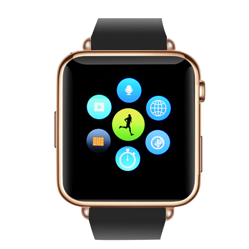 Wholesale Bluetooth Mobile Phone Smart Watch for Android and iOS - Rose Gold