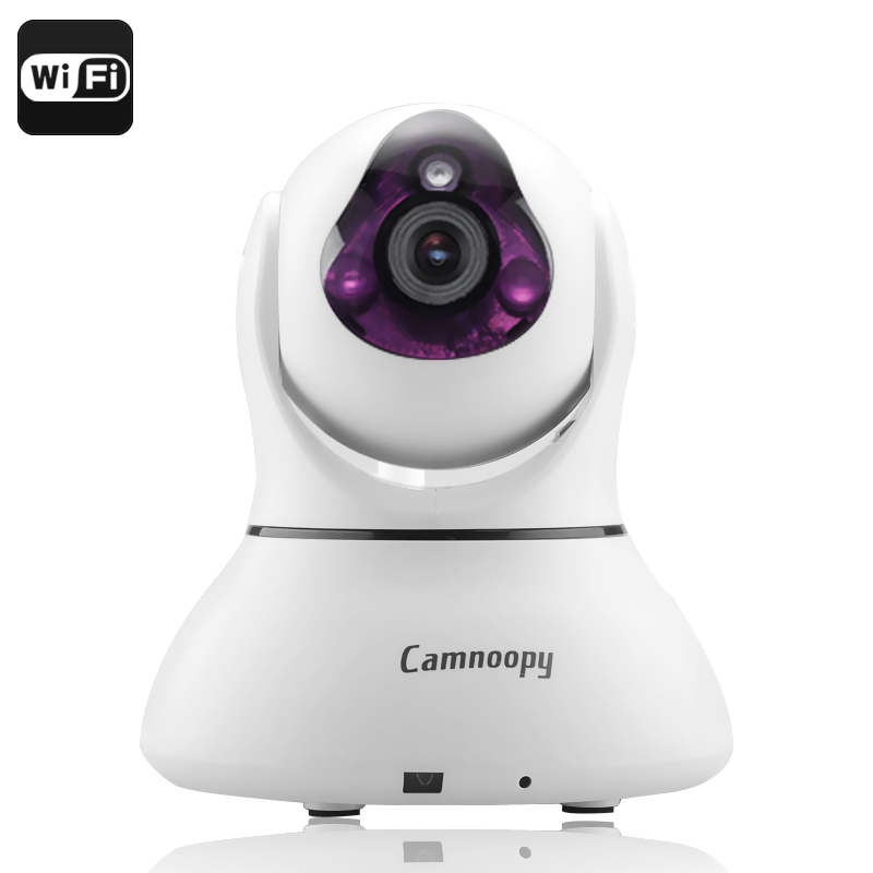 Wholesale Camnoopy CN-PT100-E Wi-Fi IP Camera (720p Recording, Night Vision, Phone Support, Alarm, Pan + Tilt)