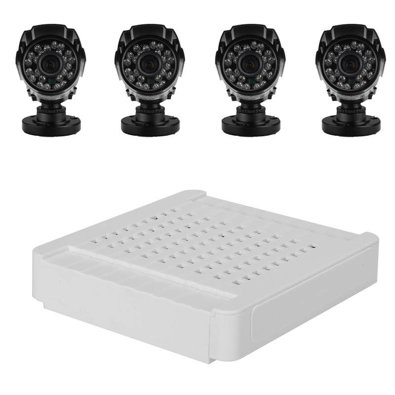 Wholesale Compact 4 Channel HD NVR Kit with 4 Wi-Fi 720P Cameras (Motion Detection, Night Vision, Remote View/Alarm, ONVIF 2.2)