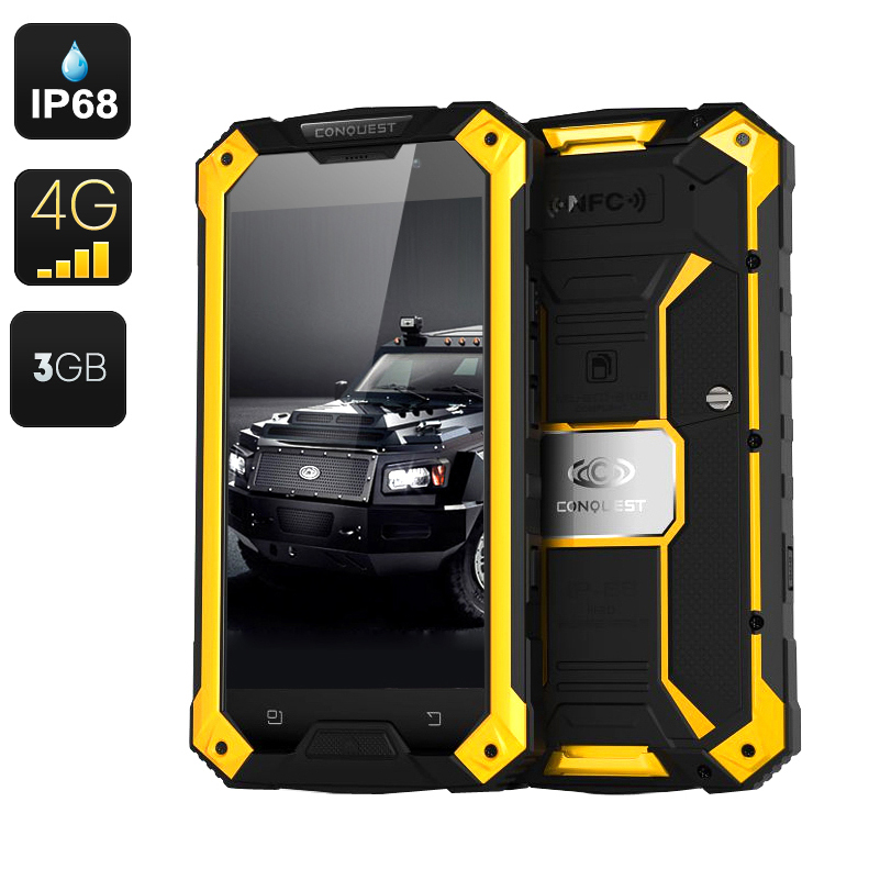 Wholesale Conquest S6 Pro IP68 Rugged Android 4G Smartphone (Octa Core CPU