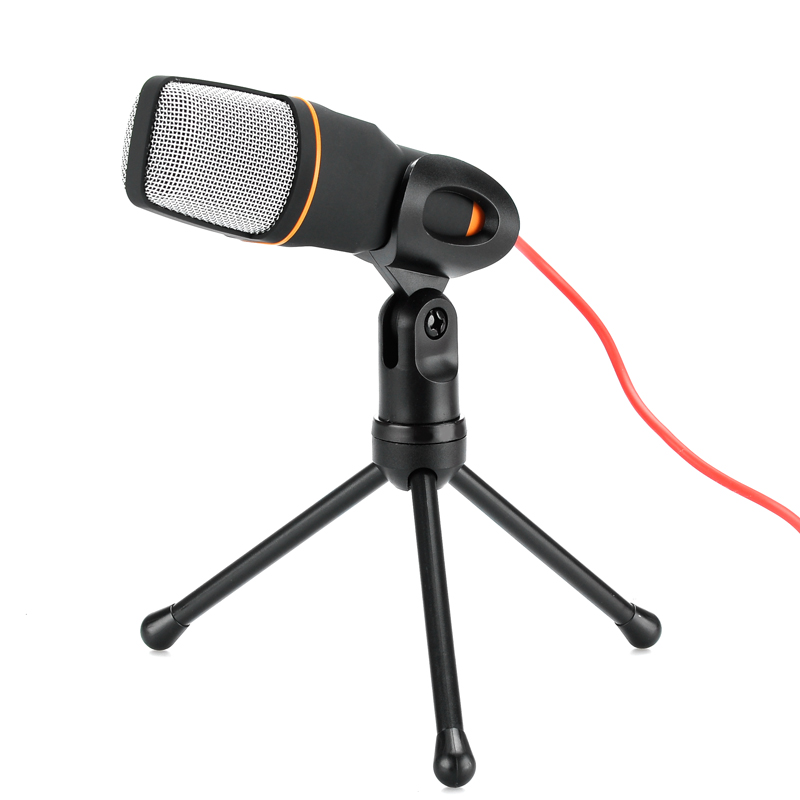 Wholesale Stereo Condenser Microphone with Desktop Tripod (3.5mm Output Jack, Noise Cancellation)