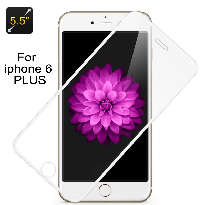 Wholesale H9 Tempered Glass Screen Protector with White Border for iPhone 6 Plus/iPhone 6S Plus (0.3mm, Washable, Scratch Proof)