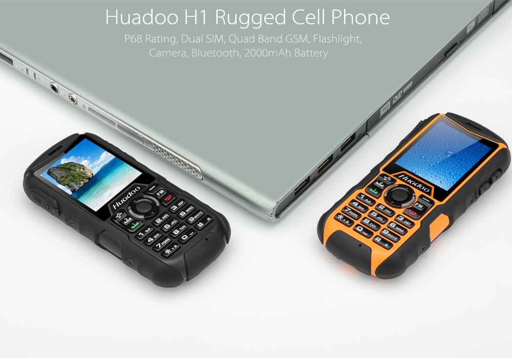 Huadoo H1 Rugged Cell Phone Ip68 Waterproof Dual Sim