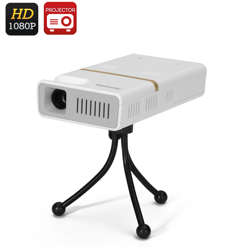 Wholesale Juneto Wi-Fi Android DLP Projector (1080P, 1000:1, 854x480, 130 Lumens, Bluetooth)