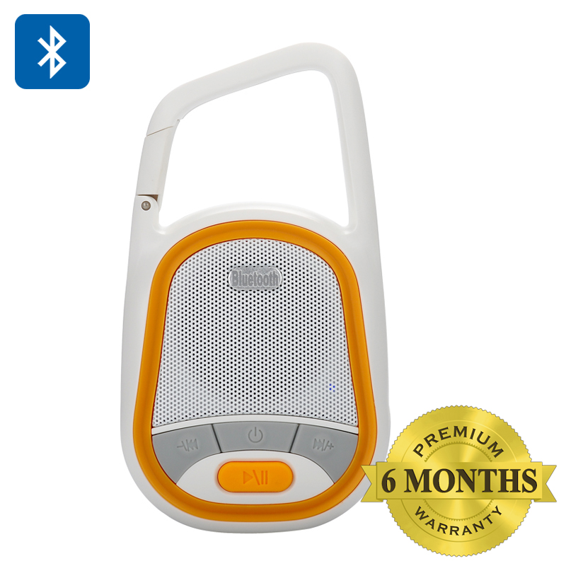 Wholesale Mini Bluetooth Speaker with Remote Camera Shutter (3W, Hands Free, FM Radio, Weatherproof, Orange)