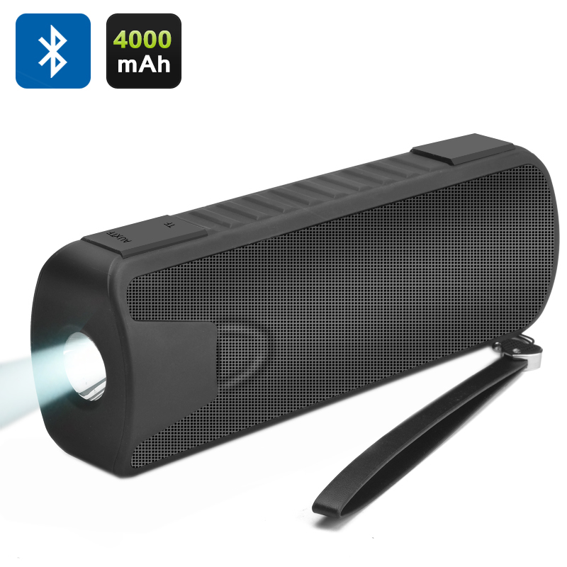 Wholesale 3in1 Bluetooth Speaker + Power Bank + Flashlight (10W, 4000mAh, Black)