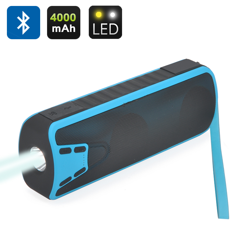 Wholesale 3in1 Bluetooth Speaker + Power Bank + Flashlight (10W, 4000mAh, Blue)