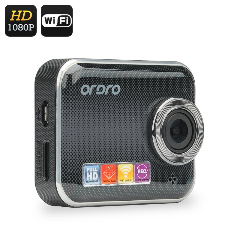 Wholesale ORDRO Q505W 1080P Car DVR Security Video Recorder Dash Camera (Wi-Fi, App Remote, 160 Degree Lens, 1/3 Inch CMOS)