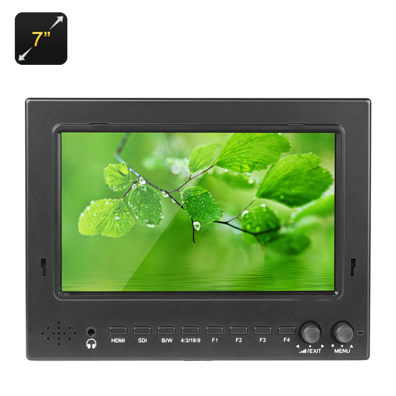 Wholesale On-Camera 7-Inch HD DSLR Monitor (1024x600, HDMI/AV Output, Peaking Focus, 600cd/m2)