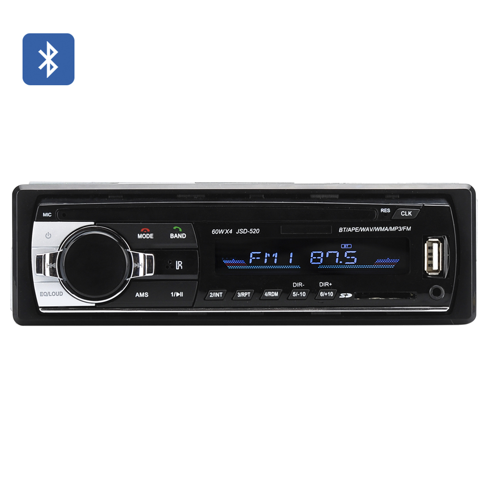Wholesale One DIN Bluetooth Car Stereo (4x 60W Speaker, Aux, USB + SD Card Slot, FM Tuner)