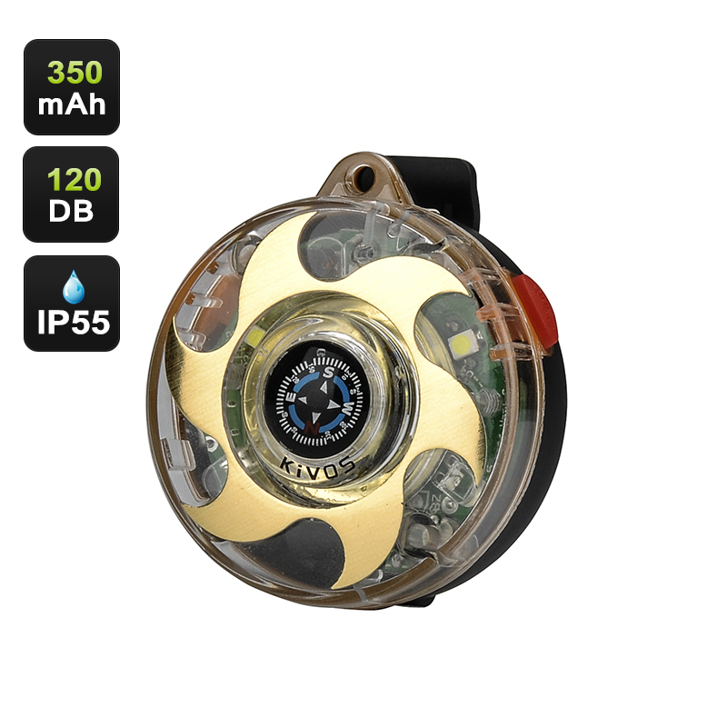 Wholesale Outdoor Personal Panic Safety Alarm with Compass (120db, 5 LEDs, IP55 Waterproof, 350mAh)