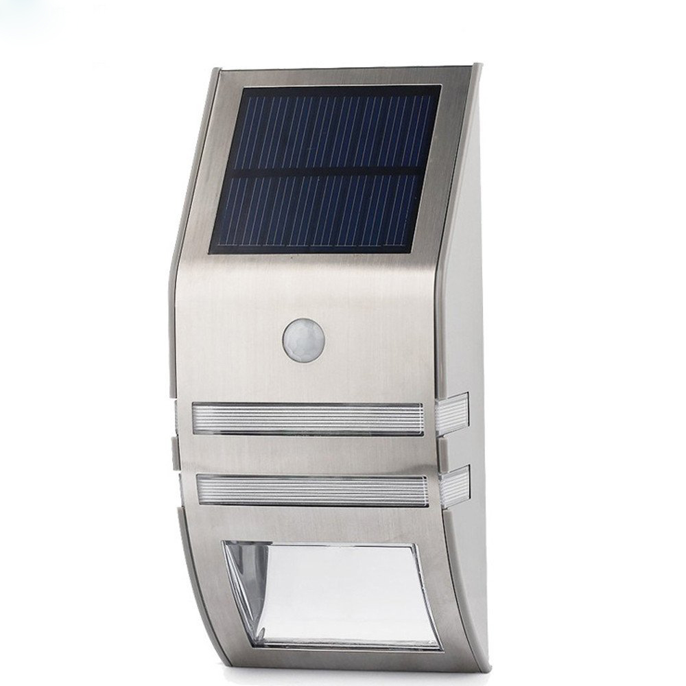 Wholesale Outdoor Solar LED Security Light (Motion Detection, IP44, 50 Lumens, Silver)