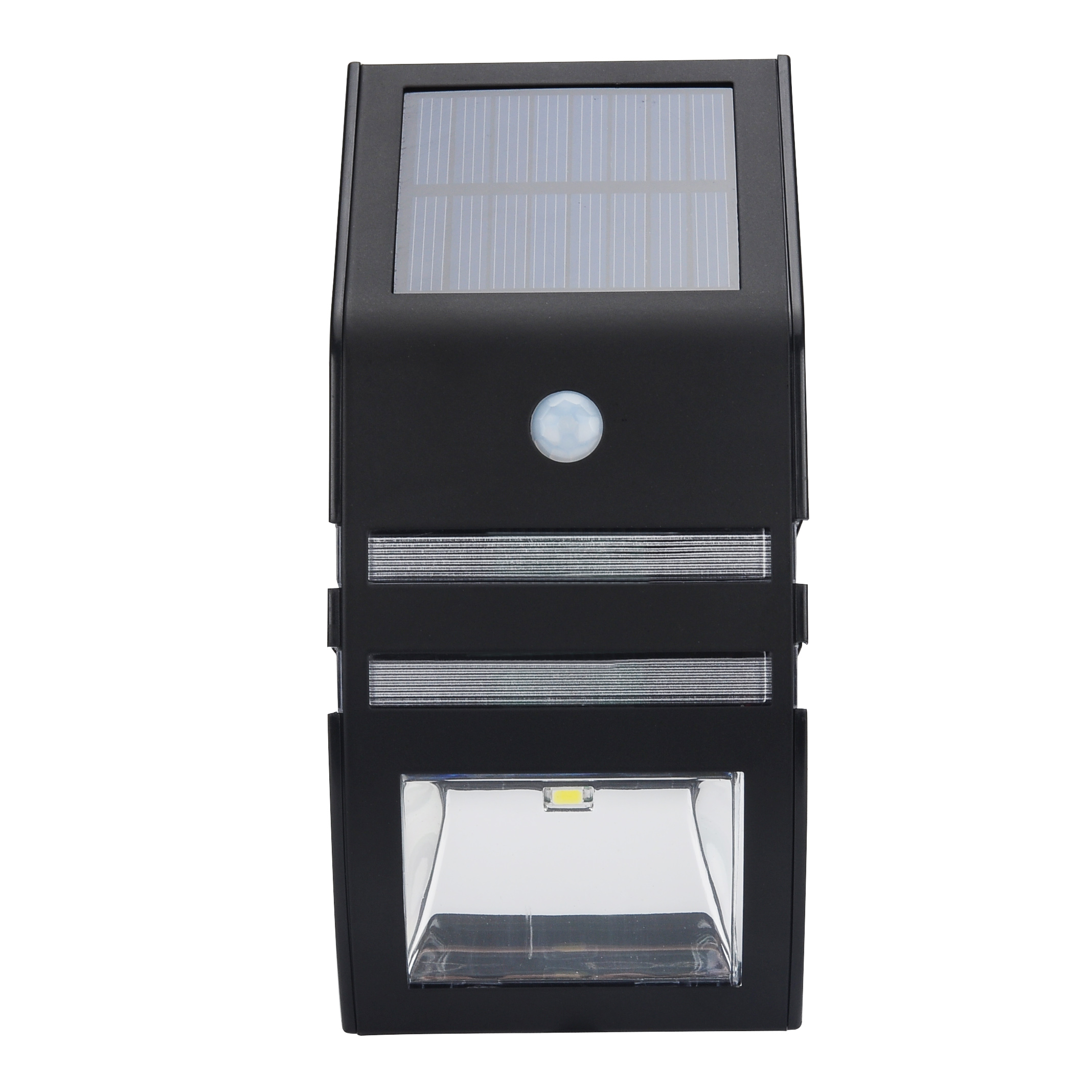 Wholesale Outdoor Solar LED Security Light (Motion Detection, IP44, 50 Lumens, Black)
