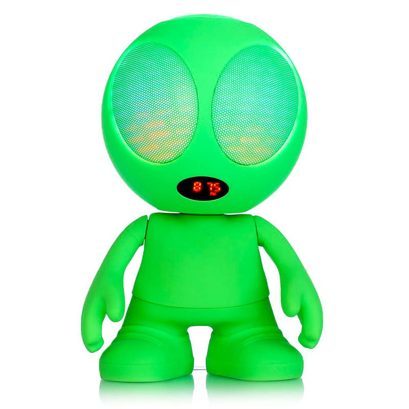 Wholesale Alien Shaped Portable LED Light Bluetooth Speaker (Hi-Fi, USB, Hands Free, Caller ID, Green)
