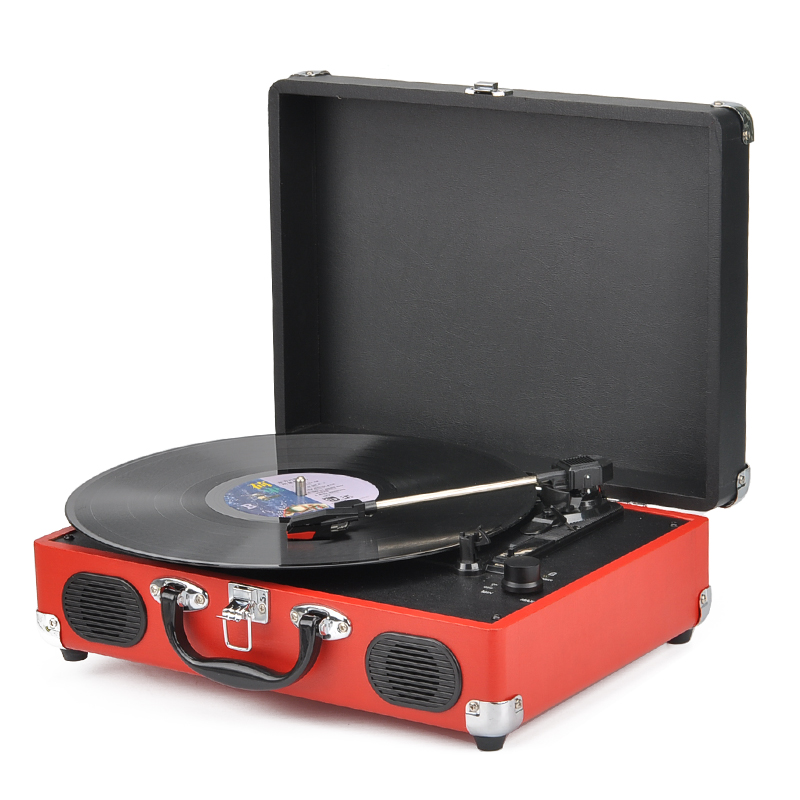 Wholesale Portable USB Vinyl To MP3 Turntable with Built-in 1000 mAh Battery (33/45 RPM, RCA Output)