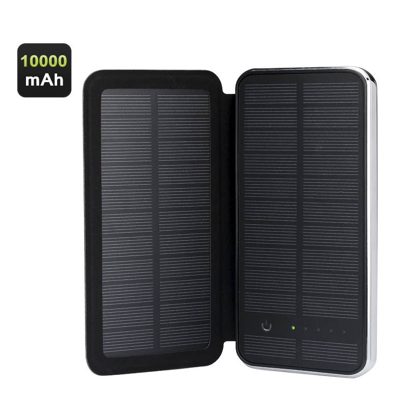 Wholesale Touch Button Control Solar Power Charger (10000mAh, Dual USB Output)