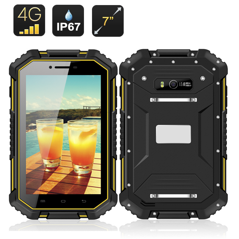 Wholesale Xscape2 - 7 Inch IP67 Waterproof Rugged Android Tablet PC + 4G Phone (1280x800, Quad Core CPU, 2GB RAM, 16GB)