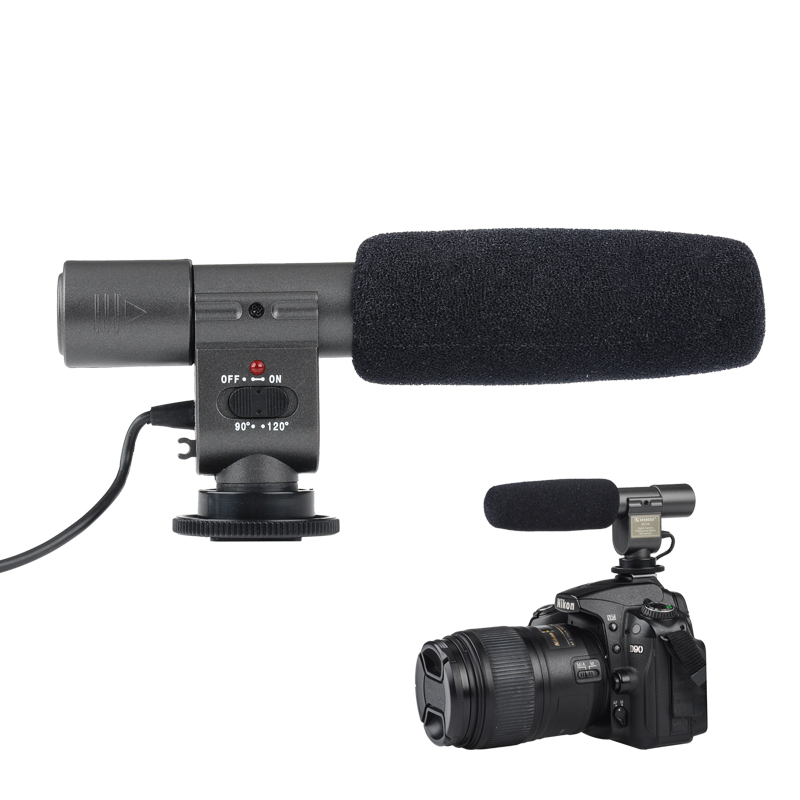 Wholesale SHENGGU SG-108 Stereo Microphone for DSLR DV Camera Camcorder