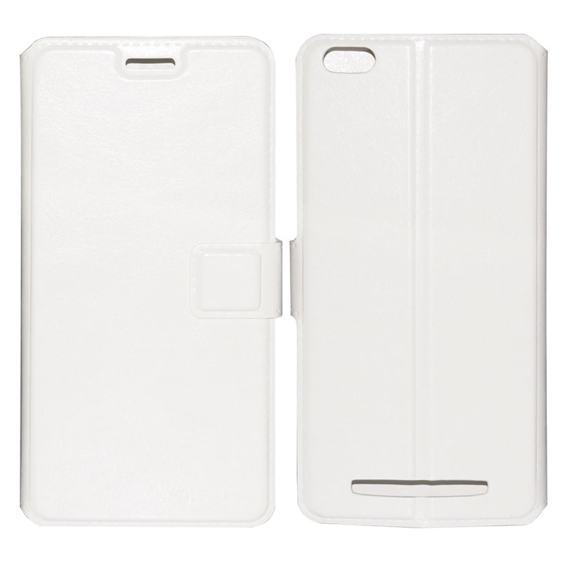 Wholesale Durable Leather Phone Case for Siswoo C55 (Hard Wearing, Credit Card Pouch, Magnetic Clasp, White)
