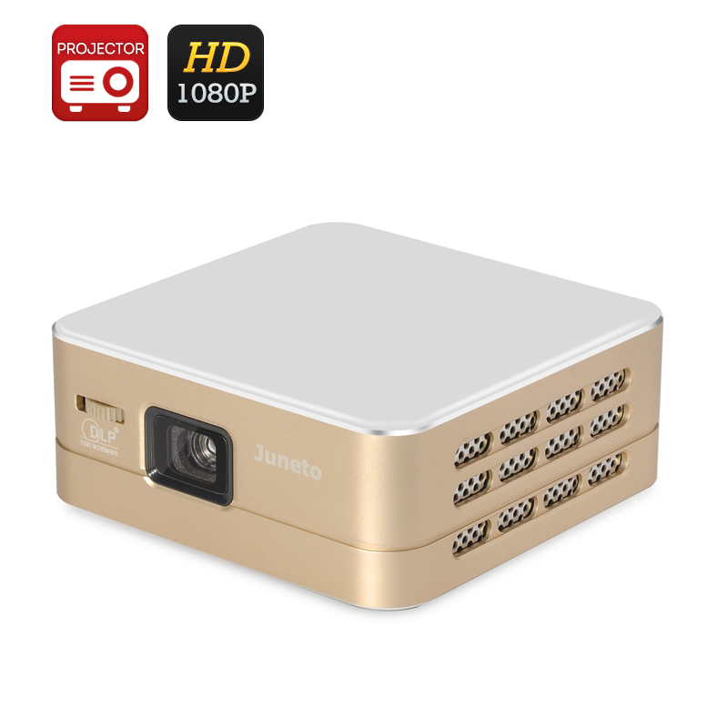 Wholesale Smart Mini Android DLP Projector with Built-in Speaker (1080P, Wi-Fi, USB, HDMI, 100 Lumens)