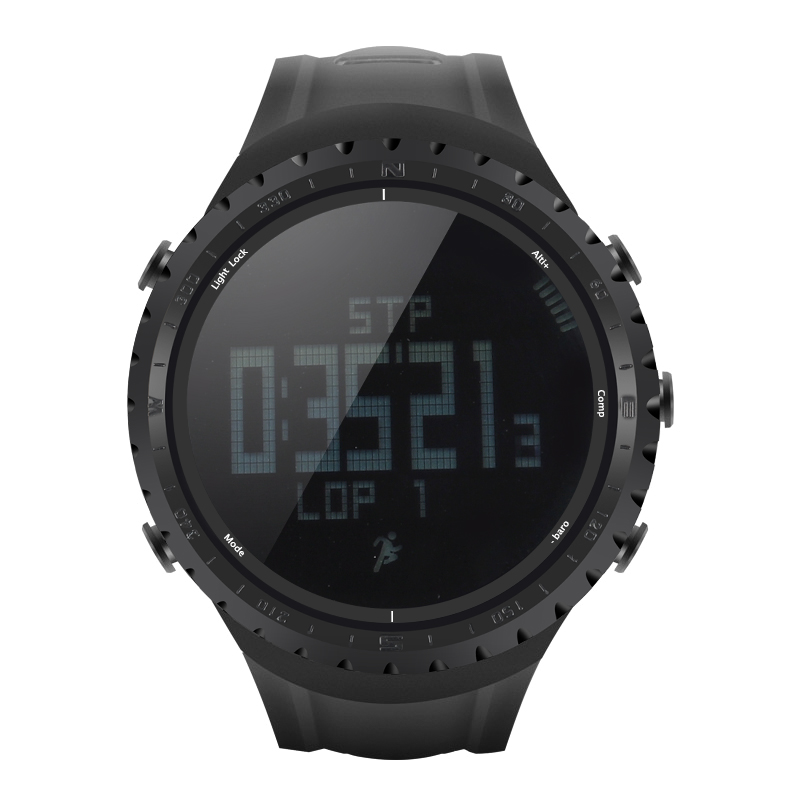 Wholesale Sunroad FR801 Waterproof Sports Watch (Pedometer, Calorie Counter, Thermometer, Barometer, Altimeter, Compass, Black)