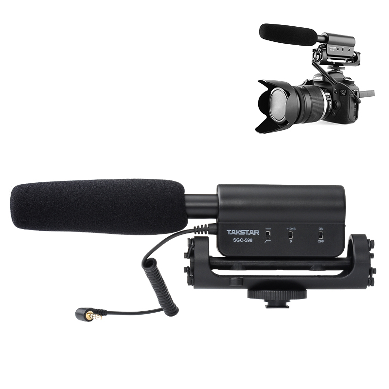 Wholesale TAKSTAR SGC-598 Interview Microphone for Nikon/Canon Camera/DV Camcorder