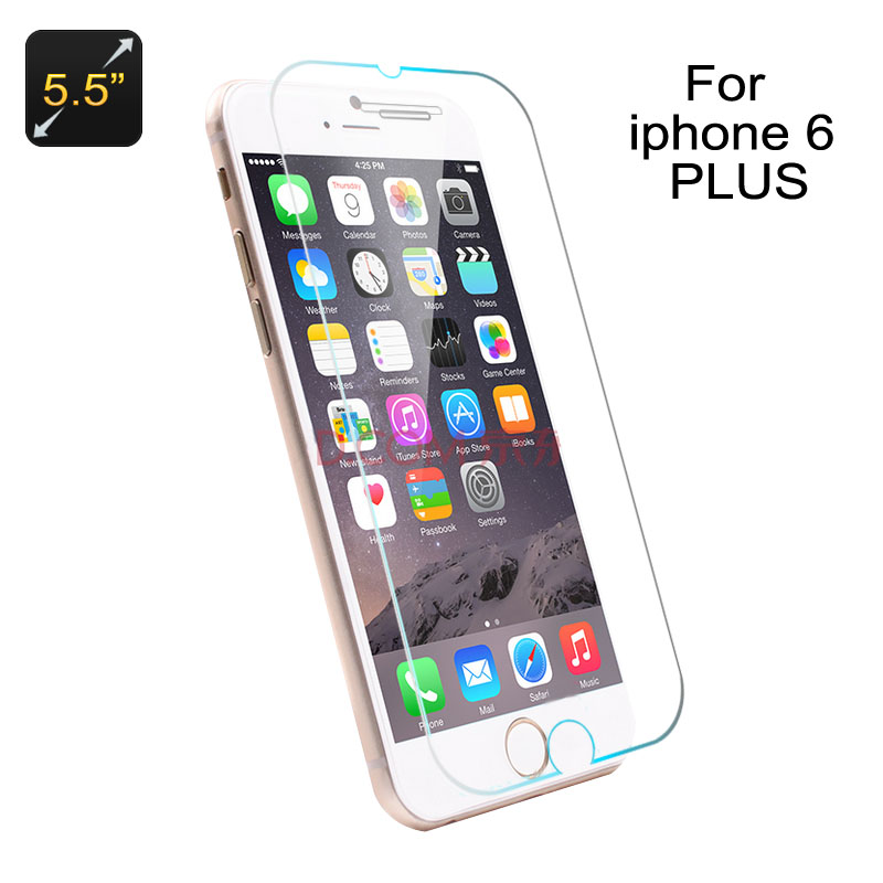 Wholesale No Border Tempered Glass Screen Protector for iPhone 6 Plus + 6S Plus (Scratchproof, Shatterproof, 9H)