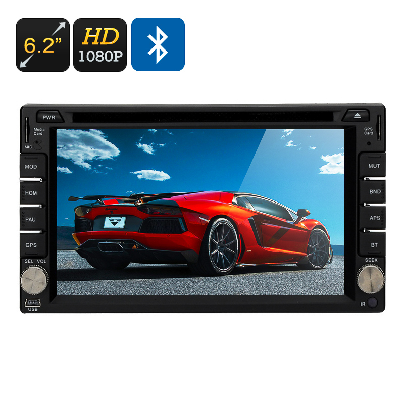 Wholesale Region Free 2 DIN Bluetooth 3G Car DVD Player (6.2 Inch Touch Screen, GPS, 1080P, 4x 45W Speaker)