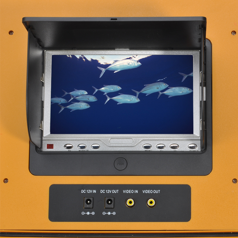 Underwater Fishing Camera with 7 Inch Color Monitor and Remote Control (360 Degrees, 1/3 Inch CCD, 600TVL)