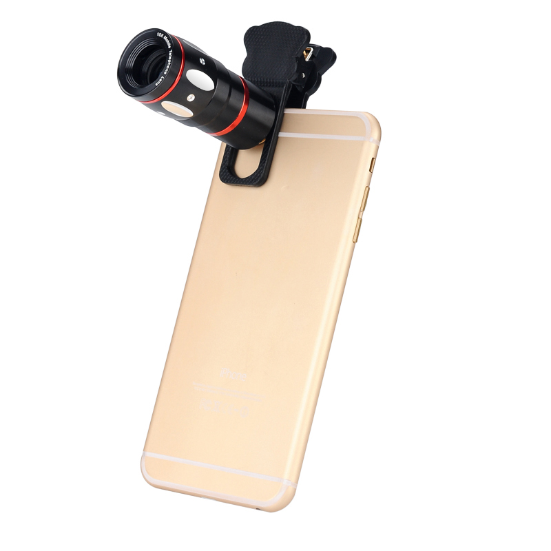 Wholesale Universal 4-in-1 Cell Phone Camera Lens Kit (X10 Telescopic Lens, Fisheye Lens, Macro Lens, Wide Angle Lens, Black)