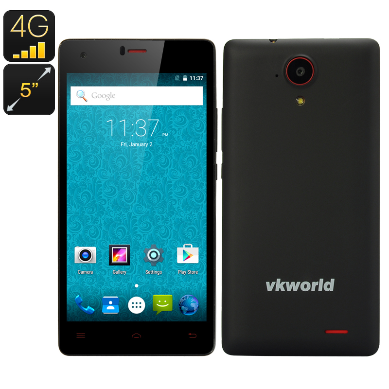 Wholesale VKWorld VK6735x Dual SIM Android 5.1 4G Smartphone (Quad Core CPU, 13MP, 1GB RAM, 8GB, Black)