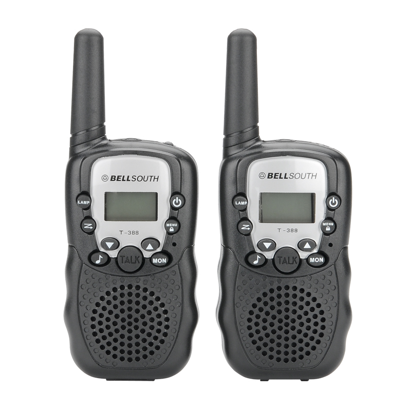 two way radio walkie talkie pair with flashlight 5 to 8km. Black Bedroom Furniture Sets. Home Design Ideas