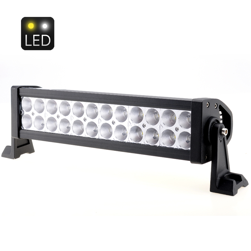 Wholesale 13.5 Inch White LED Light Bar for Flood Beam/Working/Driving (72W, 4300 Lumens, 24x 3W Epistar LEDs)