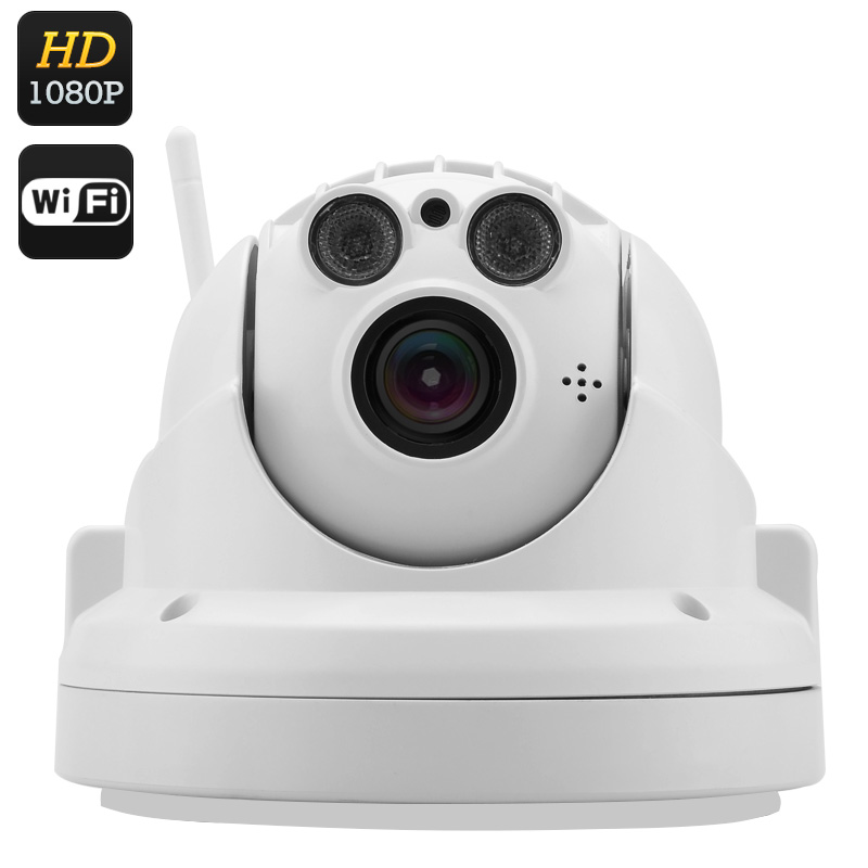Wholesale Wireless PTZ IP Camera (1080p FHD Recording, 40m Night Vision, 4