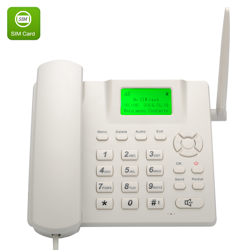 Wholesale Handsfree Wireless Quad Band GSM Desk Phone (Rechargeable, 2.4 Inch LCD Screen)