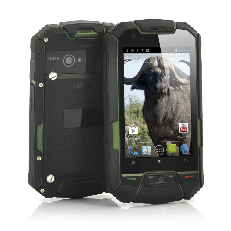 Wholesale Buffalo - Ruggedized Dual Core Android Phone (3.5 Inch, 960x640, Green, Waterproof, Shockproof, Dustproof)
