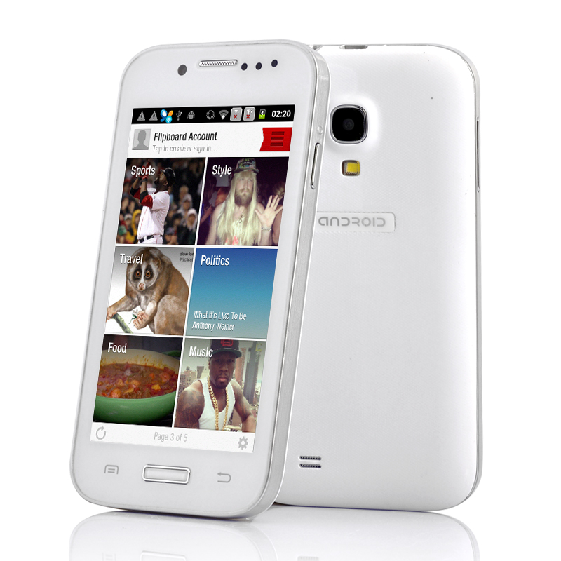 Wholesale SimSam - 4 Inch Budget Unlocked Android Phone (1GHz CPU, Bluetooth, White)