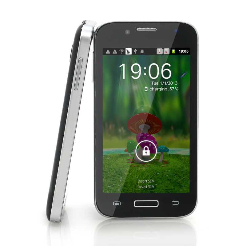 Wholesale SimSam - 4 Inch Budget Unlocked Android Phone (1GHz CPU, Bluetooth, Black)